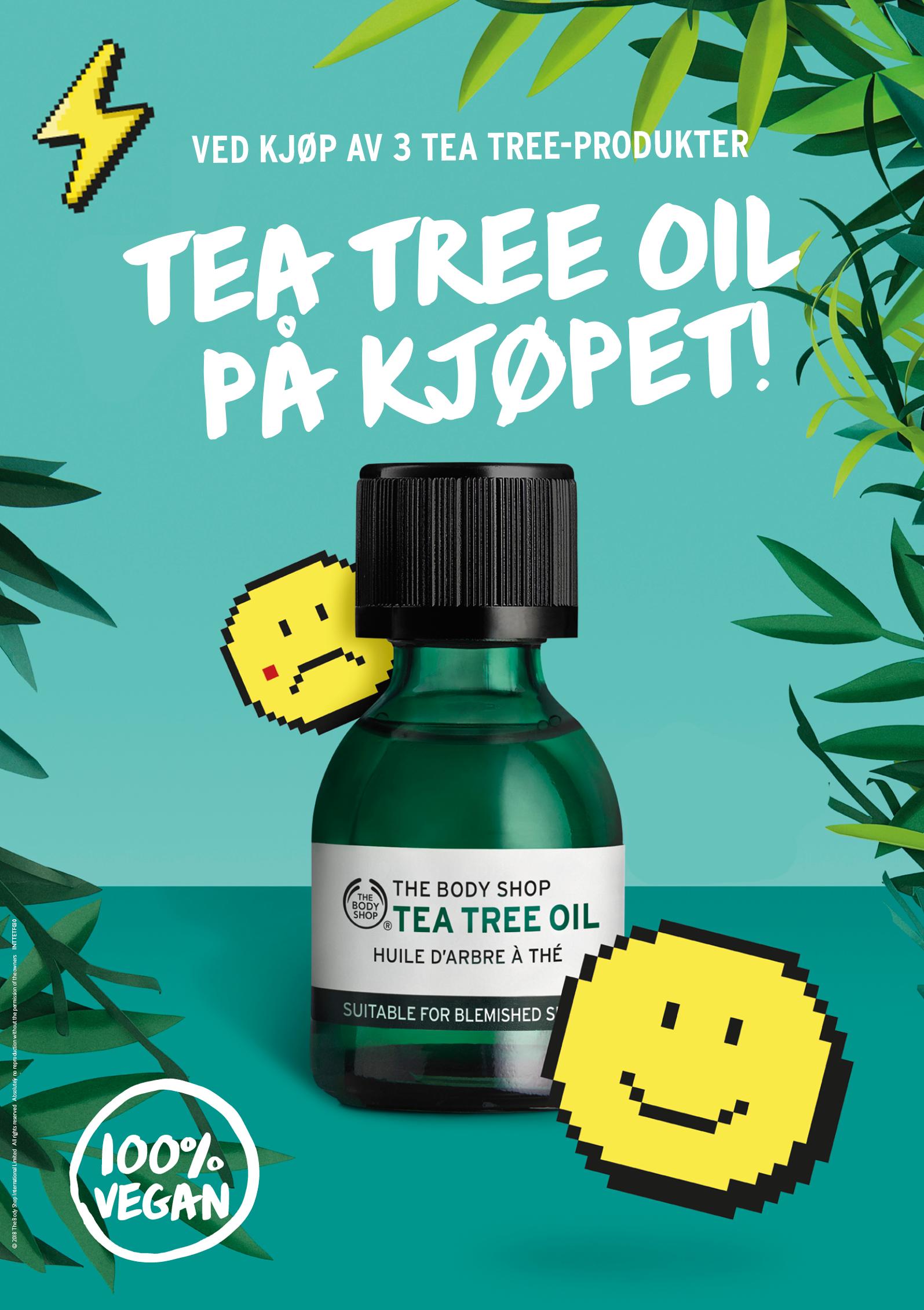 tea tree oil på kjøpet