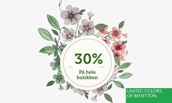 30% rabatt hos Benetton!